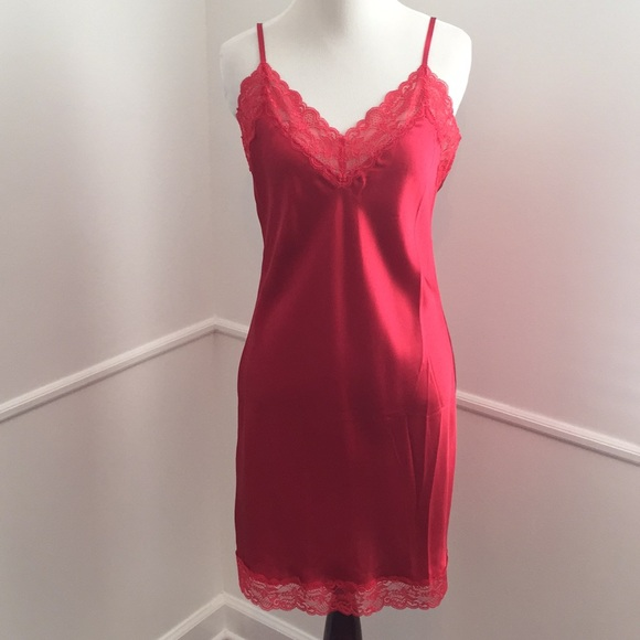 fdf3492a1aa7 INTIMISSIMI Intimates & Sleepwear | Red Satin Night Slip | Poshmark